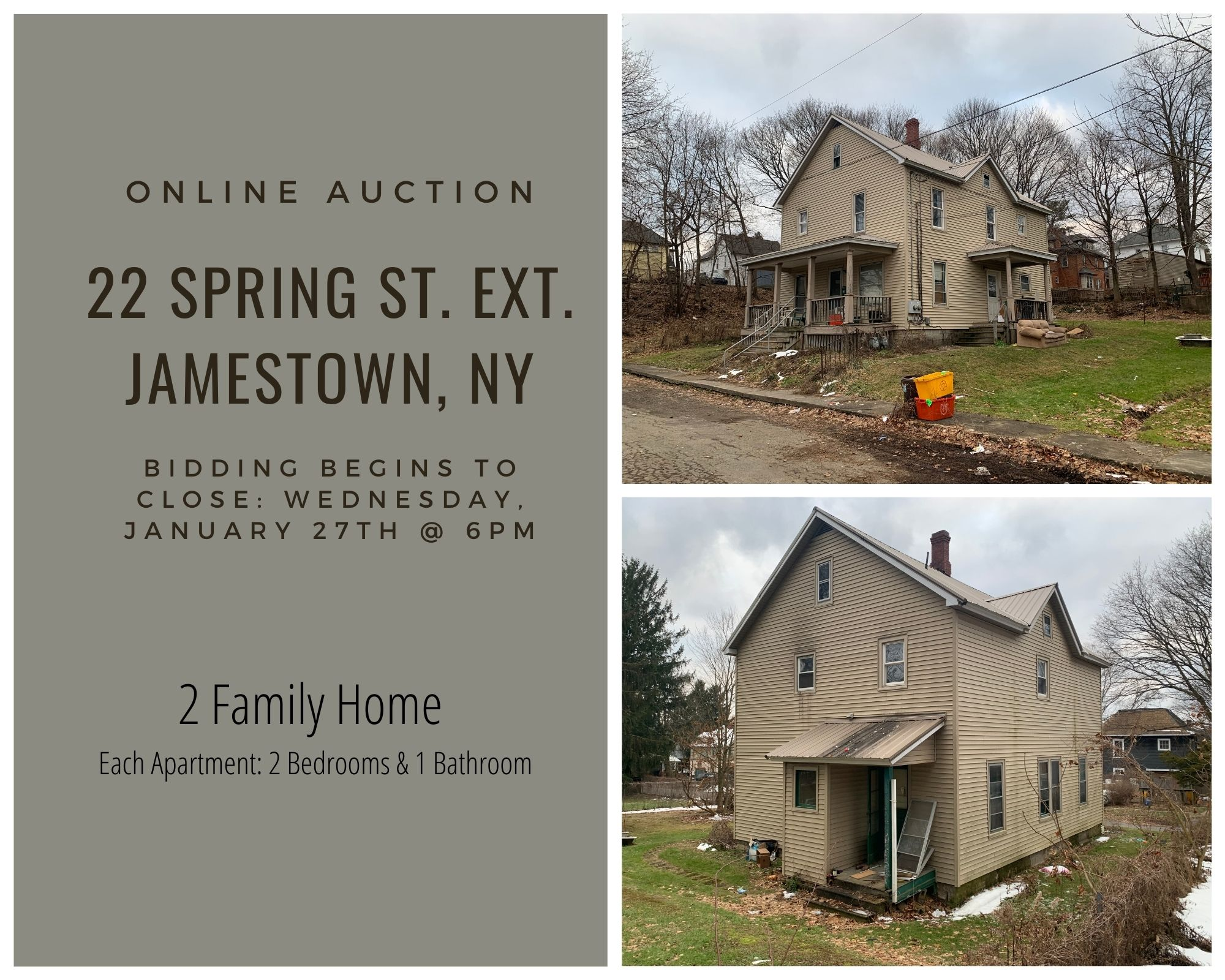 22 Spring St. Online Auction