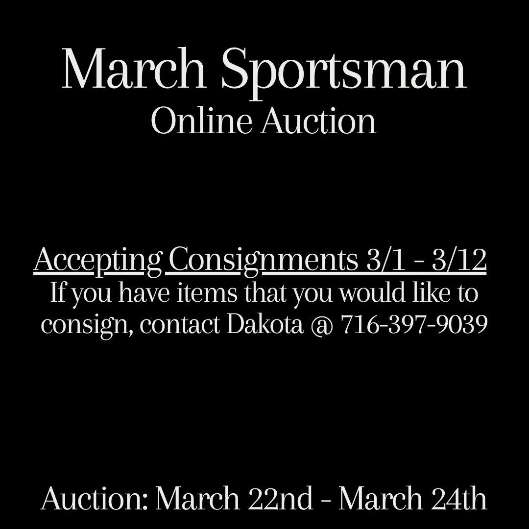 March Sportsman Online Auction