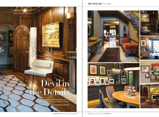 Nashville Lifestyles Magazine Gives An Exclusive Look Inside of Tony Brown's Home.