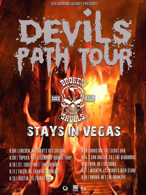 Devils Path Tour Announced with Broken Skulls