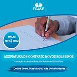 Flayer - Assinatura Contrato Novos Bolse
