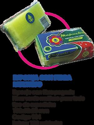 esponja con fibra multiuso