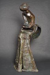 Sculpture bronze - Cadeau bronze - art - Geisha - femme - art