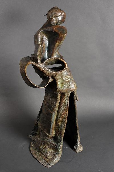 Geisha I V - Sculpture bronze - Cadeau bronze - art – luxe – Galerie – Pontrieux - Zina-o - asie - asiatique - japon - femme - cadeau entreprise -