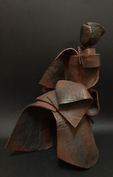 ZINA-O Kata IV Bronze N°2.8Sculpture bronze - Cadeau bronze - art – luxe – Galerie – Pontrieux - Zina-o - japon - aert martiaux - kata - asie - samouraï - posture - zen