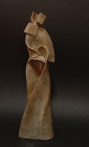 ZINA-O Pose Bronze N°1.8 - Sculpture bronze - Cadeau bronze - art – luxe – Galerie – Pontrieux - Zina-o - asie - femme - kata - posture - art martiaux - luxe - cadeau -