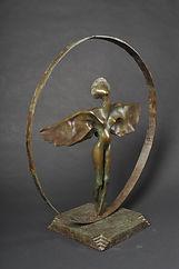 Sculpture bronze - Cadeau bronze - art - l'Envol - femme