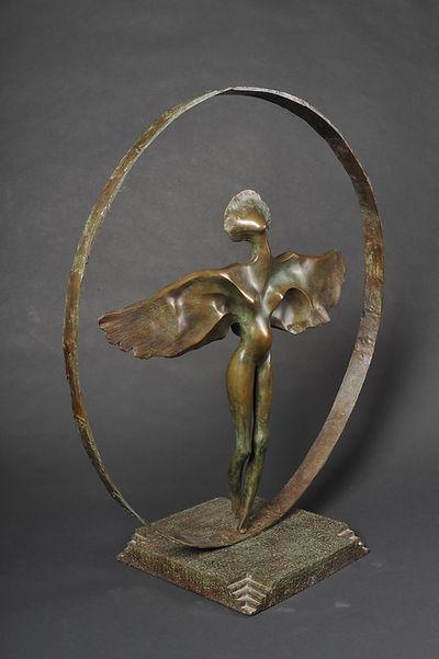 Sculpture bronze - Cadeau bronze - art - Zina-o - envol - femme - nu