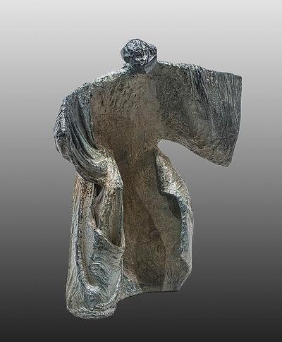 ZINA-O Le Quêteur d'Absolu Bronze N°3 - Sculpture bronze - Cadeau bronze - art – luxe – Galerie – Pontrieux - Zina-o - arts martiaux - japon - asie - sculpture contemporaine - abstrait - kata - posture - zen -