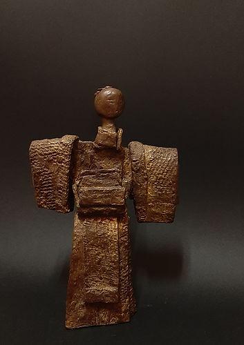 ZINA-O Geisha Bronze N°2.8 Sculpture bronze - Cadeau bronze - art – luxe – Galerie – Pontrieux - Zina-o - posture - femme - art martiaux - japon - asie - sculpture contemporaine abstraite -