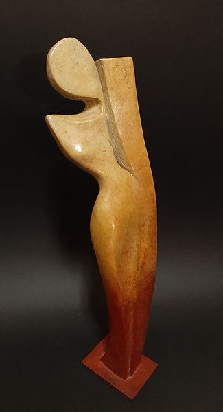 ZINA-O Torsion Bronze N°4.8 - Sculpture bronze - Cadeau bronze - art – luxe – Galerie – Pontrieux - Zina-o - femme - abstait - contemporain -