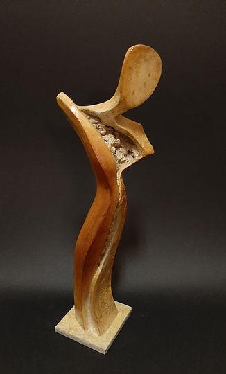 ZINA-O La Parque N°5.8  - Sculpture bronze - Cadeau bronze - art – luxe – Galerie – Pontrieux - Zina-o - Femme - mythologie - abstrait -contemporain -