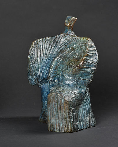 Sculpture bronze - Cadeau bronze - art – luxe – Galerie – Pontrieux - Zina-o - Samouraï - Asie - Japon - kata - art martiaux - contemporain - abstrait -