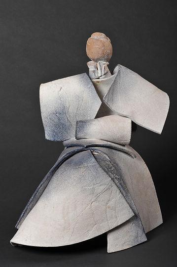 Kata blanc 6 Sculpture bronze - Cadeau bronze - art – luxe – Galerie – Pontrieux - Zina-o - Asie - art martiaux - kata - mouvement - japon - posture -