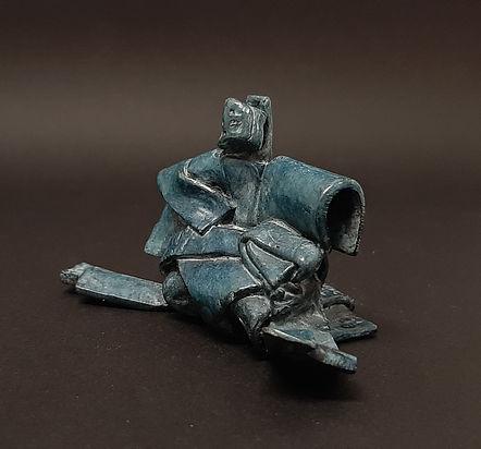 Monde Flottant III.2 - Sculpture bronze - Cadeau bronze - art – luxe – Galerie – Pontrieux - Zina-o - Asie - japon - art martiaux - zen - méditation - presse papier - sculpure contemporaine - sculpture abstraite -
