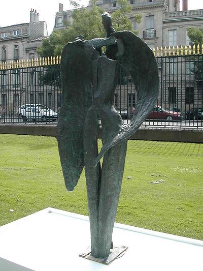 Le repos d'Icare - Sculpture bronze - Cadeau bronze - art – luxe – Galerie – Pontrieux - Zina-o - mythologie - ange -