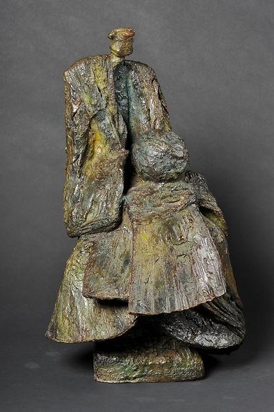Le Veilleur de l'est - Sculpture bronze - Cadeau bronze - art – luxe – Galerie – Pontrieux - Zina-o - asiatique - japon - méditation - zen -