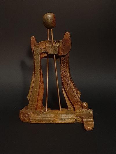 Sculpture bronze - Cadeau bronze - art – luxe – Galerie – Pontrieux - Zina-o - Rencontre - lettre hébraïque - vav - yod - hébreux - juif - sémite - israélite -  -