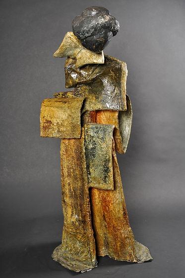Geisha - Sculpture bronze - Cadeau bronze - art – luxe – Galerie – Pontrieux - Zina-o - japon - femme - asiatique - cadeau entreprise -    --