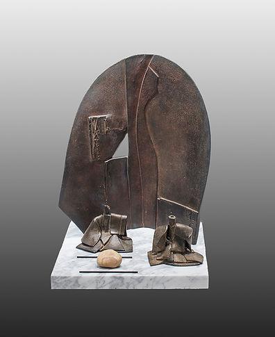 Sculpture bronze - Cadeau bronze - art – luxe – Galerie – Pontrieux - Zina-o - Théâtre - japon - Nô - Kabuki - Art martiaux - asie - japon - zen -pg