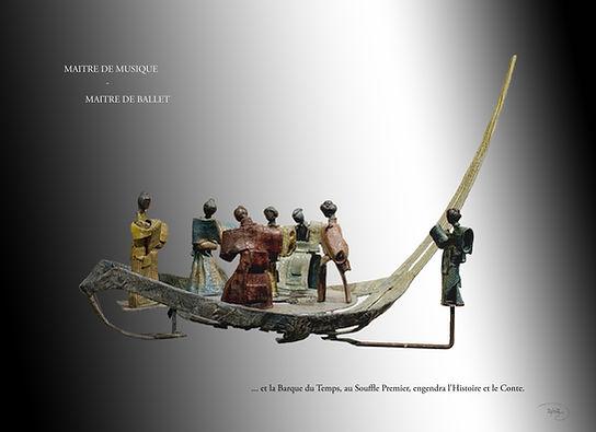 Bronze N°4.4 Maître de Musique-Maître - Sculpture bronze - Cadeau bronze - art – luxe – Galerie – Pontrieux - Zina-o - musique- théâtre - asie - japon - voyage - exotique - zen - geisha - samouraï -