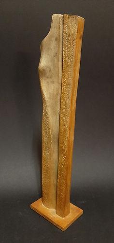 ZINA-O La Stèle N°5.8   Sculpture bronze - Cadeau bronze - art – luxe – Galerie – Pontrieux - Zina-o - Femme - mythologie - abstrait - contemporain -