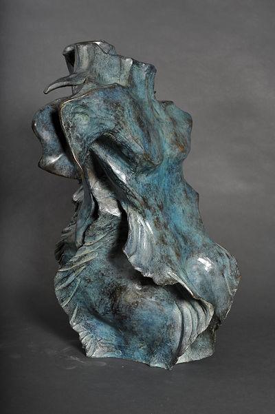 Sculpture bronze - Cadeau bronze - art – luxe – Galerie – Pontrieux - Zina-o -Dualite - Poseidon - buste