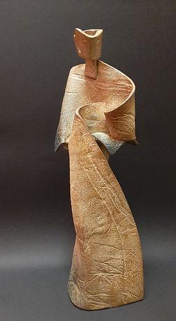 ZINA-O Invitation Bronze N°2.8 - Sculpture bronze - Cadeau bronze - art – luxe – Galerie – Pontrieux - Zina-o - posture - kata - asie - femme - geisha -