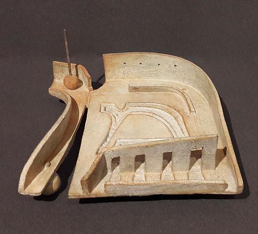 ZINA-O Mer Intérieure Bronze N°1.8 - Sculpture bronze - Cadeau bronze - art – luxe – Galerie – Pontrieux - Zina-o - lettre hébraïque - juif - hébreu - sémite -  MEM -