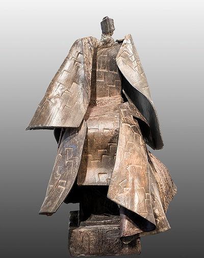 ZINA-O Veilleur Bronze N°5_8 -Sculpture bronze - Cadeau bronze - art – luxe – Galerie – Pontrieux - Zina-o - japon - prince de cour - samouraï -