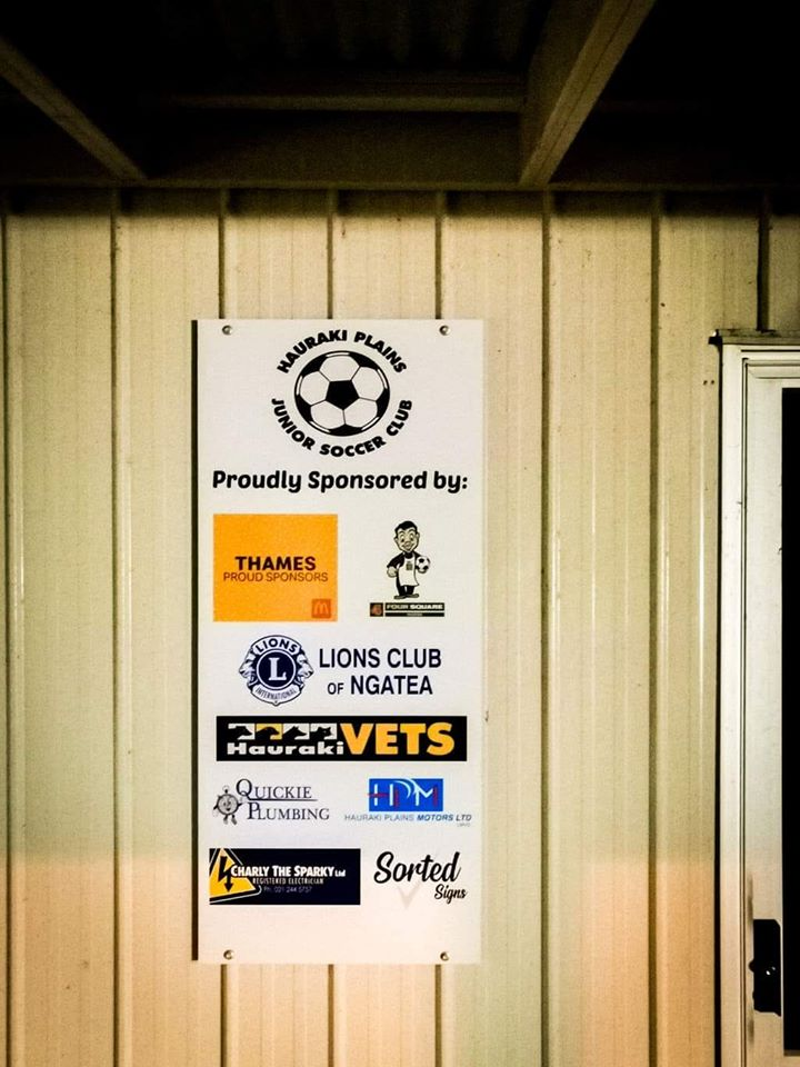 Hauraki Plains Junior Soccer sponsor boa
