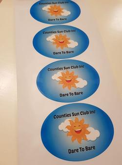 Counties Sun Club Stickers