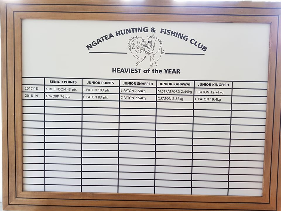 Ngatea Hunting & Fishing Club new honour