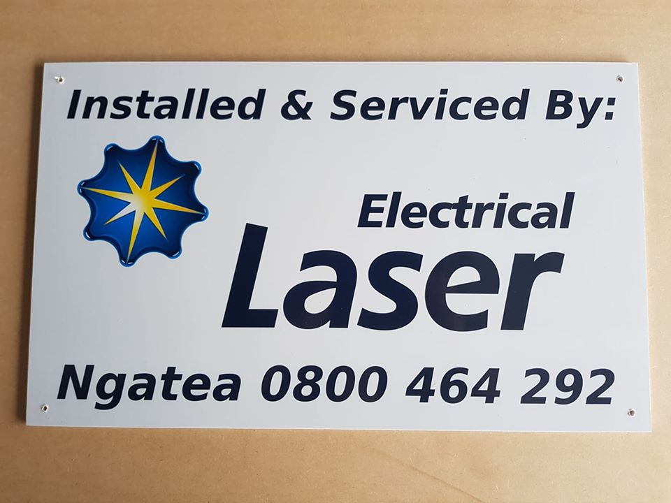 Laser Electrical installation sign