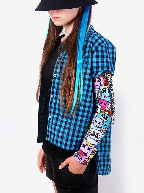 """Рубашка """"Emoji"""" голубая"""