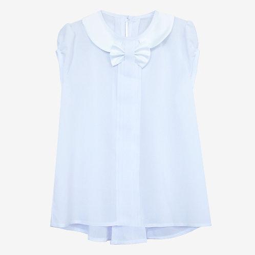 Блузка с атласным воротником