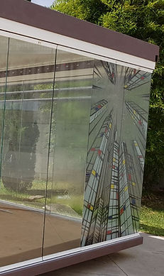Vetro temperato 10mm decorato per vetrate panoramiche