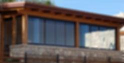Vetrata scorrevole panoramica con microventilazione