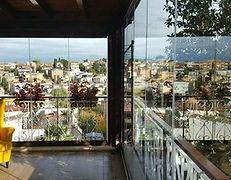 Veranda panoramica con vetrata a pacchetto