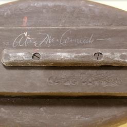 9 - Al McCormick - keel weight, signatur