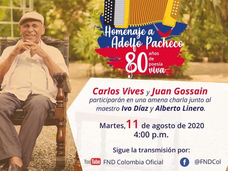 Telecaribe transmite homenaje al maestro Adolfo Pacheco
