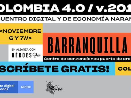 Telecaribe te invita a  Colombia 4.0 el encuentro digital más grande del país.