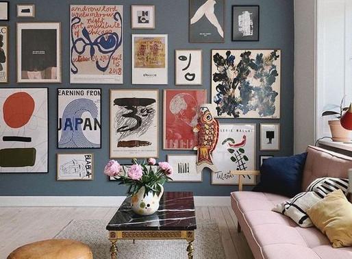 Svarbiausios taisyklės, kaip papuošti savo namų sienas paveikslais