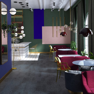 Luxury restorano interjero dizainas