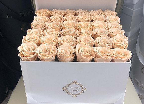 Signature Grand Square Blanc - Infinity Roses