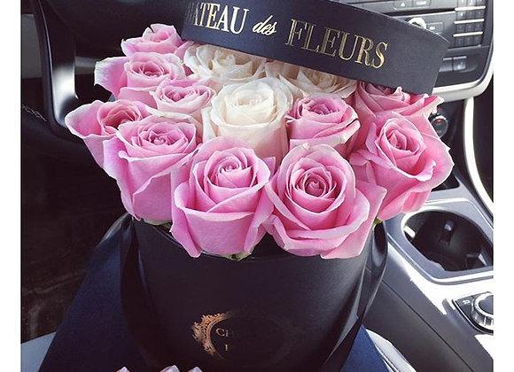 Signature Petit Round Noir - Infinity Roses
