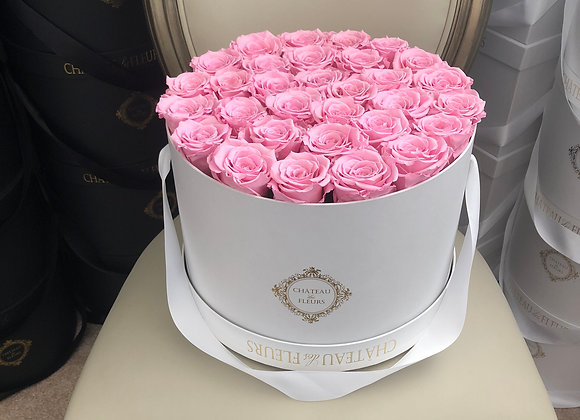Signature Grand Round Blanc - Infinity Roses