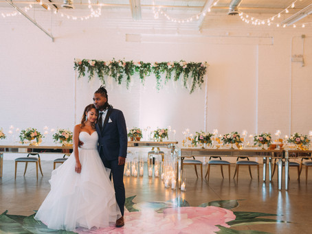 Patricia + Jamal A Rustic Glam District 28 Wedding