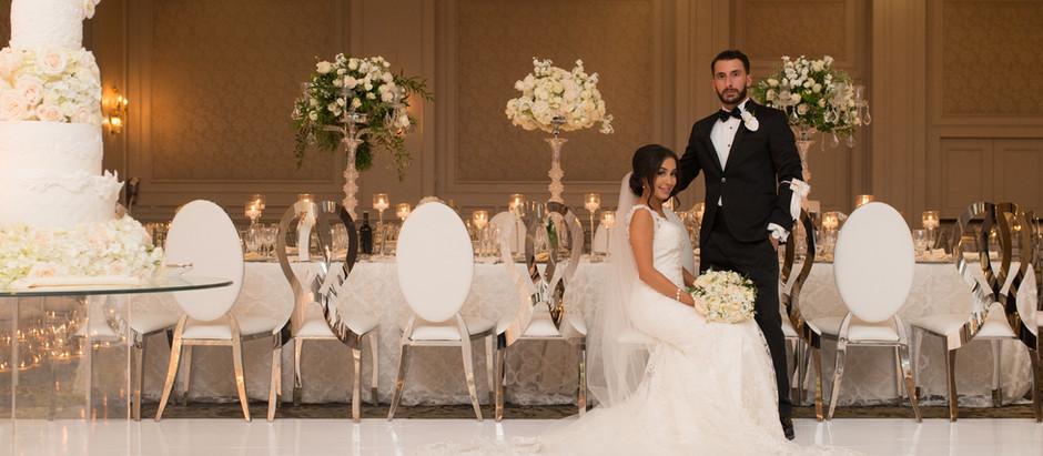 """Sharokina + Vince  An """"En Blanc"""" Wedding at Hazelton Manor"""