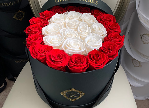 Signature Grand Round Noir - Infinity Roses